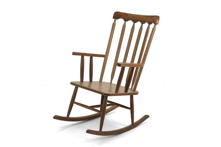 Ahşap Sallanır Sandalye-Minderli
