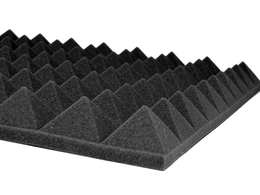 Akustik Piramit Sünger-10 Adet-50x50x3 cm