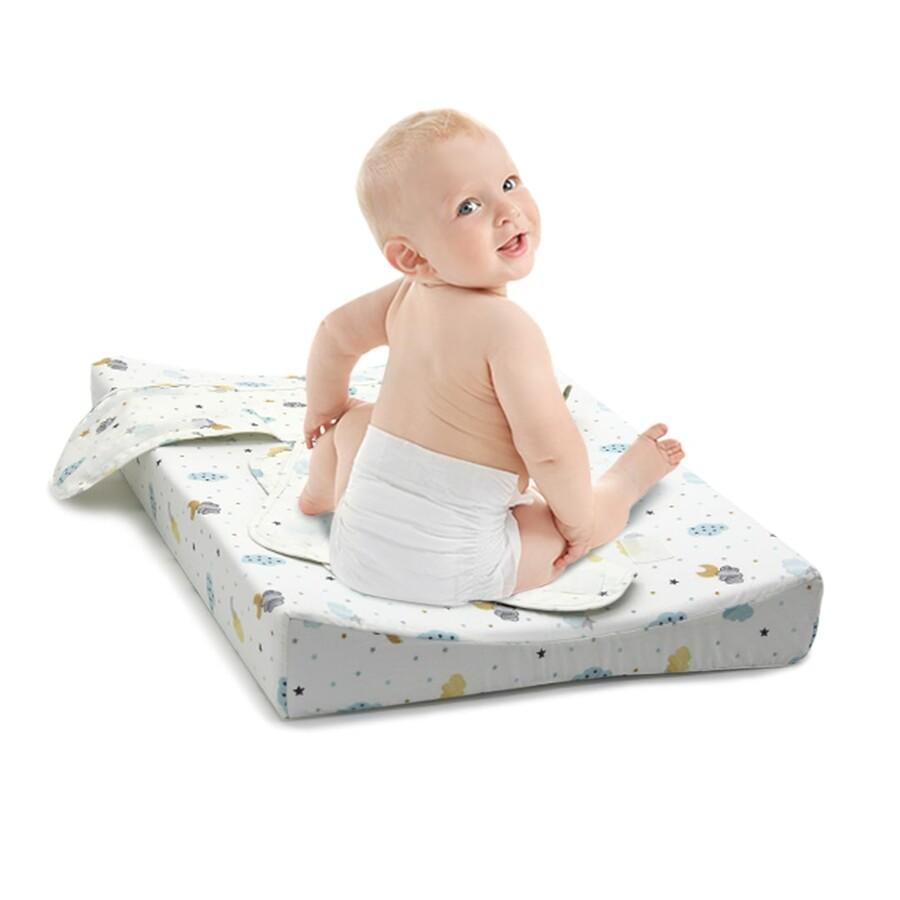 İŞBİR - Bebek Alt Değiştirme Pedi - Beyaz Bulut