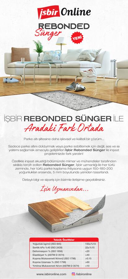 Parke Altı Rebounded Sünger 1 m²