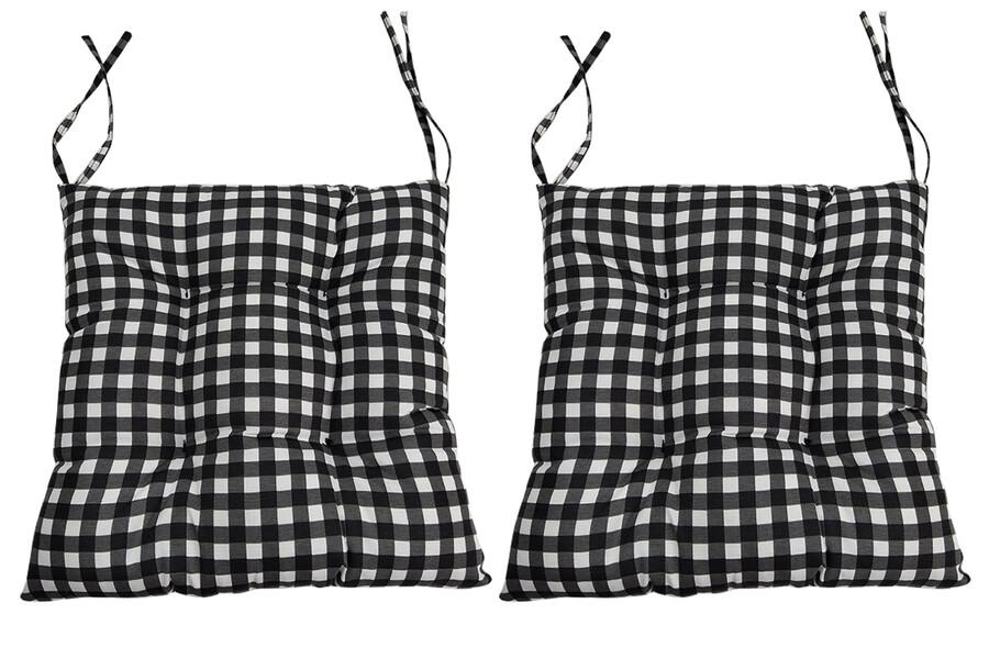 İŞBİR - Puf Sandalye Minderi Kare Desenli 2 'li Paket