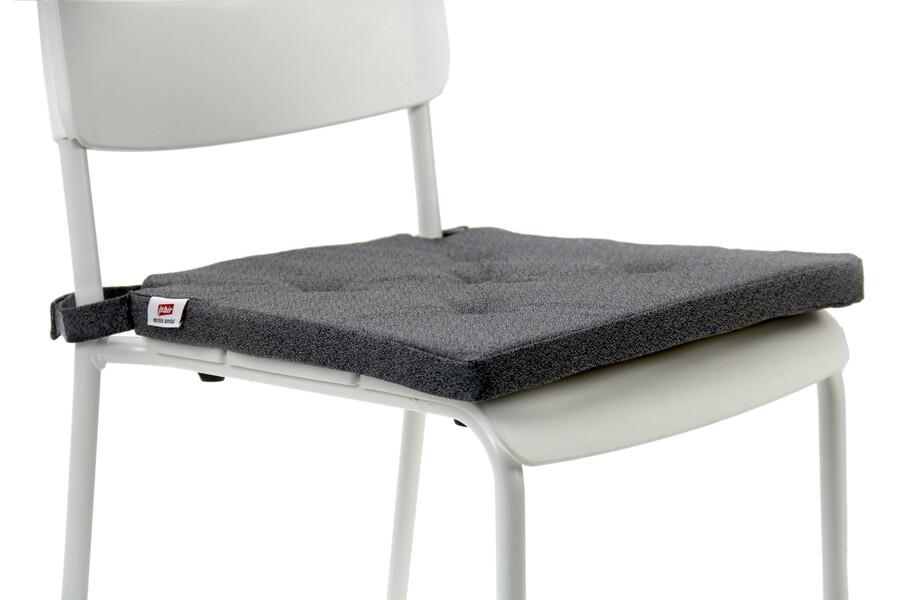 İŞBİR - Sandalye Minderi 5 Puntolu Antrasit