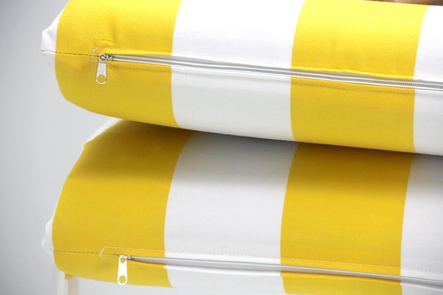 Şezlong Minderi Katlanabilir Sarı Çizgili