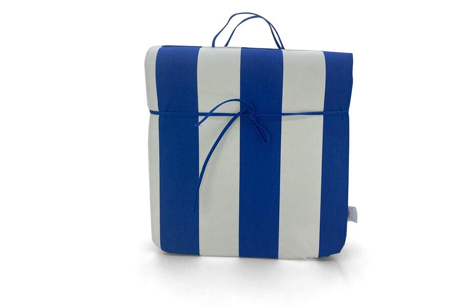 Şezlong Minderi Mavi-Beyaz Çizgili, Taşınabilir, Imperteks Kumaş, 50x195x5 cm