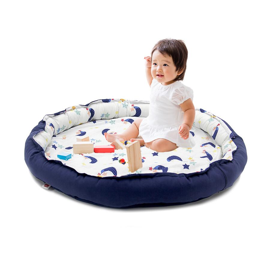 İŞBİR - Yuvarlak Bebek Oyun Havuzu-Mavi Ay